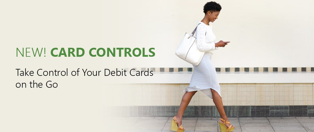 New Card Controls feature available in the COPFCU mobile app.