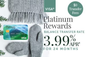 Visa Platinum Rewards - 3.99% APR for 24 Months on Balance Transfers