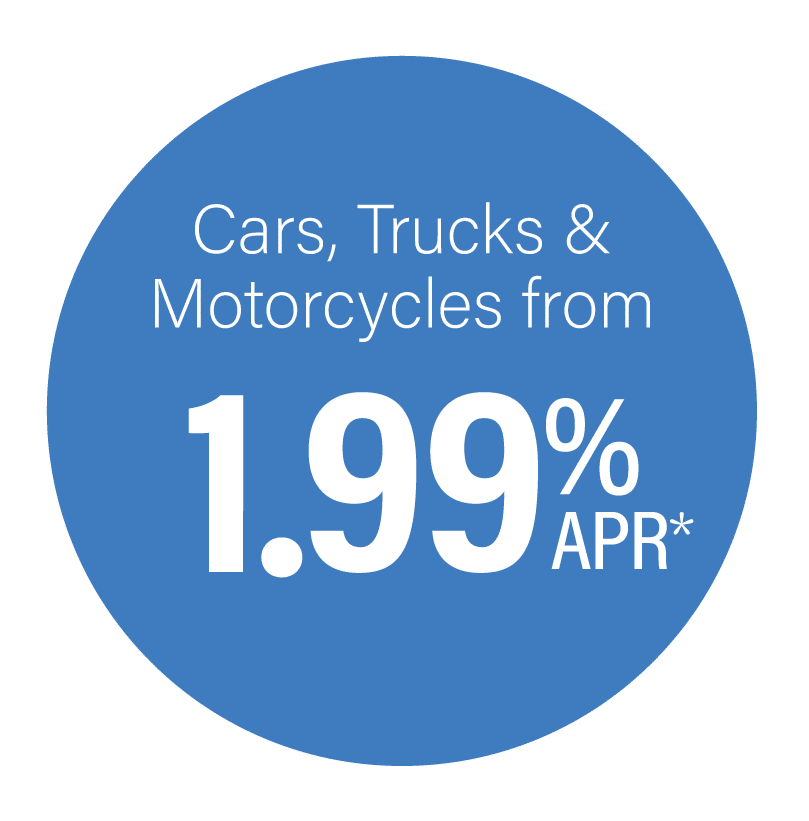 Vehicle loans from 1.99% APR